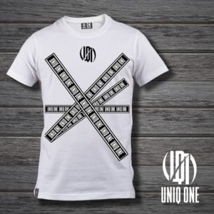 camiseta basic line 2 blanco