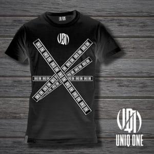 camiseta basic line 2 negra
